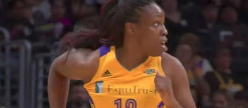 All-Star Chelsea Gray and the Los Angeles Sparks host the Chicago Sky on Thursday. [Image via WNBA/YouTube]