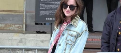 Dakota Johnson at the Gucci Fashion Show in Milan - StormShadowCrew/YouTube Screenshot