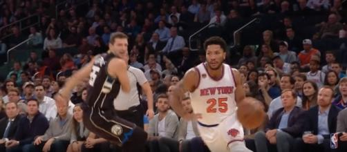 Derrick Rose dribbles the ball. Photo -- YouTube Screenshot/@NBA
