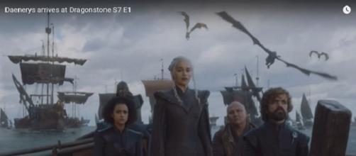 Game of Thrones S07-E01 Dragonstone Image via Jubec/YouTube screen cap https://www.youtube.com/watch?v=JjQVupIGYOk