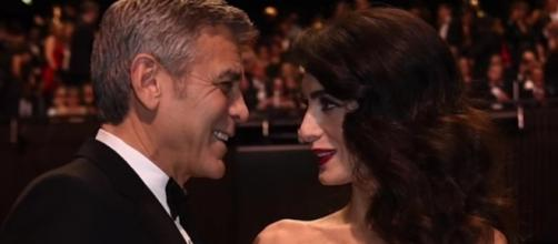 George and Amal Clooney stepped out for a romantice date in Italy. Image via YouTube/ET
