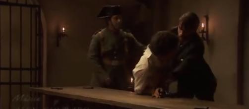Il Segreto: Hernando picchia Elias.