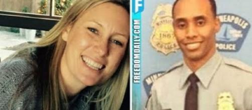Justine Damond and officer Mohamed Noor in two separate, undated photos - Flickr/adr1682305408 Thanh