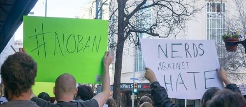 Protest following President Trump's executive order for a travel ban on Muslim-majority nations. Daniel Cuadra- Wikimedia Commons