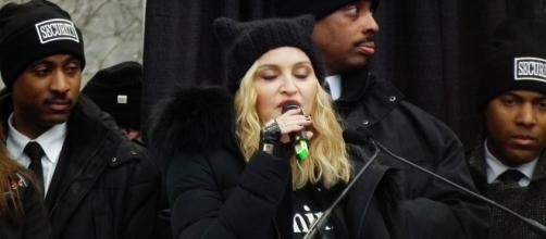 There were certain things Madonna (shown during the Women's March) did not want to go public with (Wikimedia Commons).