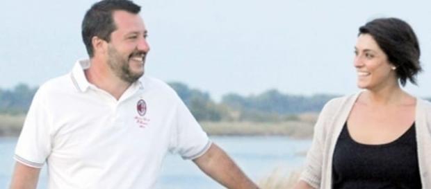 Matteo Salvini ed Elisa Isoardi.