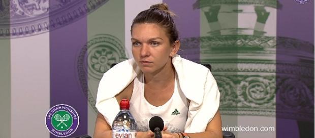Simona Halep/ Photo: screenshot via Wimbledon officia channel on YouTube