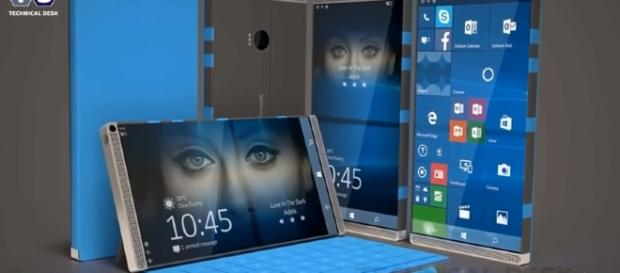 Microsoft Surface Phone's image emerges on Azure's social media account (Technical Desk Channel/Youtube)