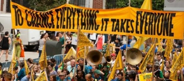 The People's Climate March brought climate change to the forefront of politics. Photo from South Bend Voice via Wikipedia Commons.