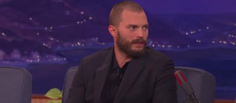 Jamie Dornan talks about his fears for portraying his iconic 'Fifty Shades' character. (Image YouTube - Team Coco)