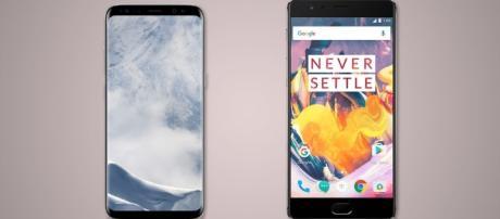 Samsung Galaxy S8 and S8+ vs. OnePlus 3T (Image Credit: newatlas.com)