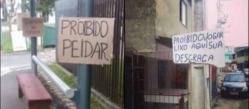 As placas mais bizarras encontradas no Brasil.