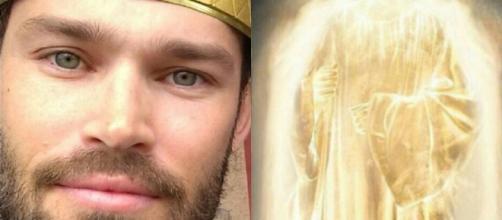 Ator Keff Oliveira interpreta anjo Gabriel (Foto: Reprodução/Instagram)