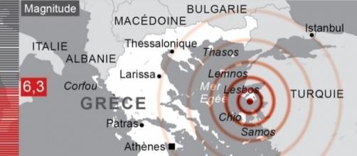 Au moins dix blessés dans un séisme d'une magnitude 6,3 en mer Égée