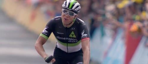 Boasson Hagen won stage 19 of the Tour de France. (Image credit: YouTube/Le Tour de France)
