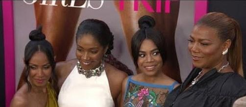 """""""Girls Trip"""" opens in theaters on July 21 [Image: CNN/YouTube screenshot]"""