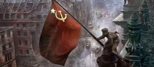 A bandeira do comunismoaté hoje é orgulhosamente erguida por marxistas