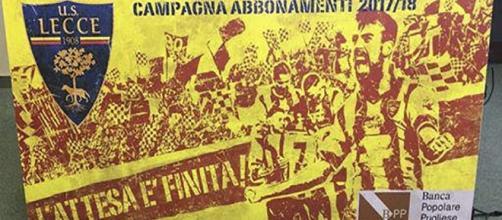 Marco Mancosu, scelto come testimonial di questa campagna abbonamenti US Lecce 2017-2018 - fonte sololecce.it