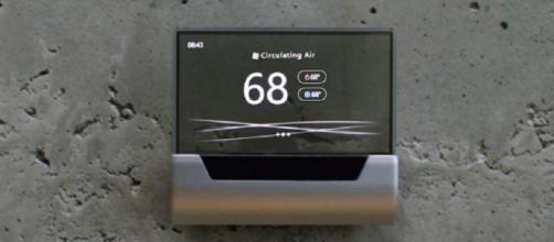 Microsoft unveils Cortana-powered thermostat / Photo via Microsoft (YouTube)