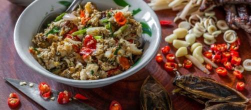 Plato típico de la cocina de Laos