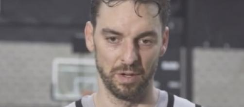 Veteran center Pau Gasol signed a three-year deal with the Spurs -- GOAT of NBA via YouTube