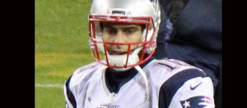 Jimmy Garoppolo/ photo by Jeffrey Beall via Wikimedia Commons