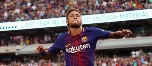 L'esultanza di Neymar dopo il gol del 2 a 0