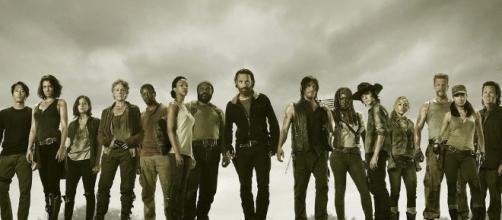 Rick Grimes e seu bando em ''The Walking Dead''