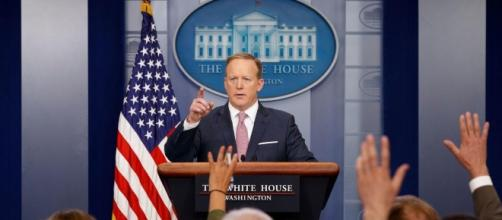 Sean Spicer out as White House press secretary - LA Times (Creative Commons - BlastingNews Library)