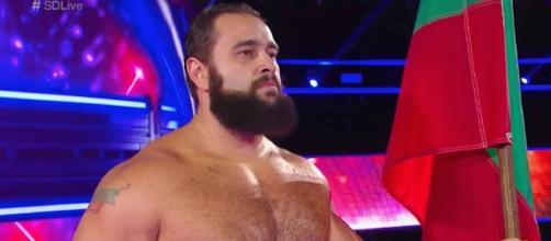Will Rusev stand tall again after Sunday's Flag Match against John Cena at WWE 'Battleground' 2017? [Image via WWE/YouTube]