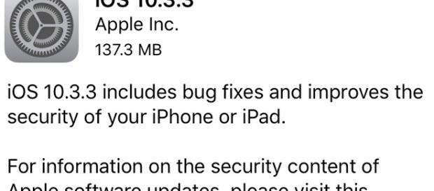 iOS 10.3.3 iPhone update/ photo by Ryan Joseph
