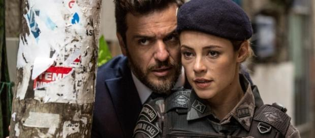 O casal na operação policial - Fonte: Site Globo