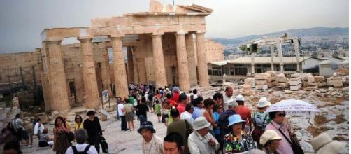 Acrópole de Atenas, o mais conhecido cartão postal da Grécia