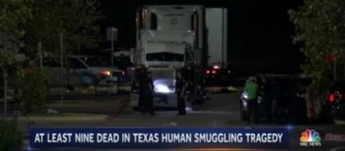 Among all the people rushed in the overheated truck, there were two school-age children too. [Image: Youtube/NBC NEWS]