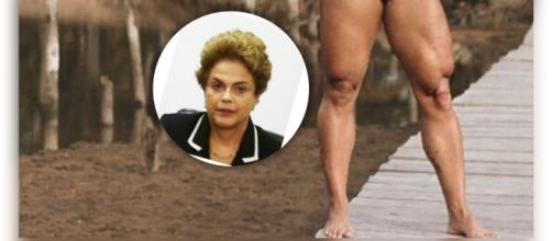 Internautas estão vendo Dilma Rousseff no joelho de Gracyanne Barbosa