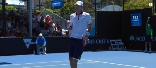 John Isner at the 2017 Australian Open. Photo -- YouTube Screenshot/@AustralianOpenTV