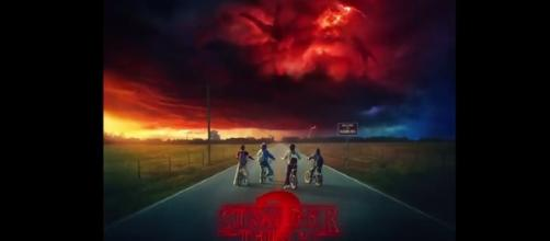 "poster for season 2 of ""Stranger Things"" (via YouTube - Series Trailer MP)"