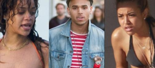 Rihanna, Chris Brown and Karrueche Tran - hollywoodbackstage/YouTube Screenshot