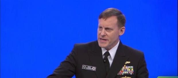 Mike Rogers resisted Trump's pressure to confirm there was no Russian collusion. Image credit - RSA Conference/YouTube.