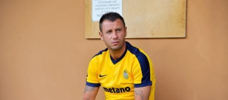 Antonio Cassano con la maglia del Verona
