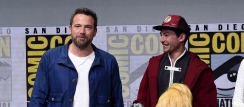 Ben Affleck at the San Diego Comic-Con, where he denied rumors of quitting as Batman. / from 'The Boston Globe' - bostonglobe.com