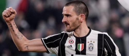 Bonucci con la maglia della Juventus