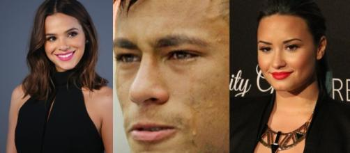 Bruna Marquezine curti comentários sobre Neymar e Demi e fãs apontam ciúmes