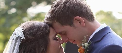 'Counting On' stars Joy-Anna Duggar and Austin Forsyth during their wedding day / Photo via Duggarfam , Instagram