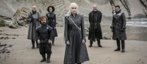 "Daenerys with her crew and Jon Snow, ""Game of Thrones"" Season 7 Episode 4 (Photo via HBO PR/Twitter)"