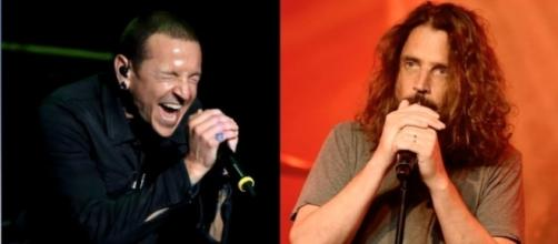 Fans push for Chester Bennington to be buried next to Chris Cornell. Photo via Celebs TV/ YouTube
