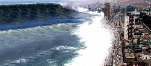 Tsunami del 2004: reproducción artística muy similar a la realidad