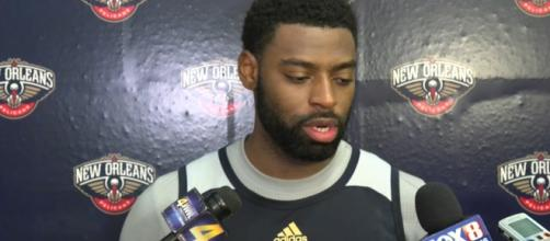 Tyreke Evans in his old team answering media questions | Wikimedia Common