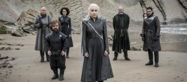 "Daenerys with her crew and Jon Snow, ""Game of Thrones"" Season 7 Episode 4 (Photo via HBO PR/Twitter)"
