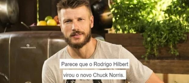 Rodrigo Hilbert: o Chuck Norris brasileiro. Foto: Reprodução/Twitter.